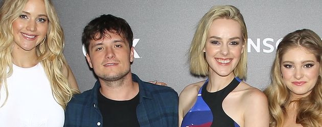 Jennifer Lawrence, Jena Malone, Josh Hutcherson und Willow Shields