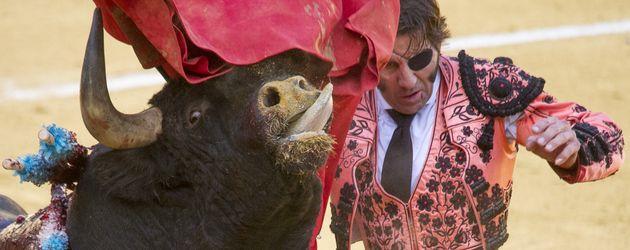 Juan Jose Padilla beim Stierkampf während des San Barlolome Festes in Alcala de Henares