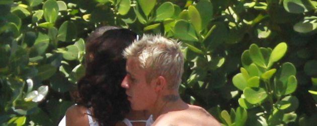 Justin Bieber und eine Brünette in Miami