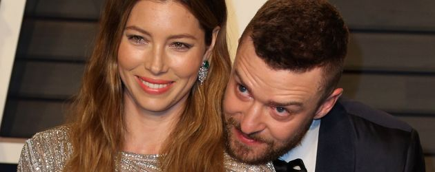 Jessica Biel und Justin Timberlake im Februar 2016 auf einer Oscar-Party in Los Angeles