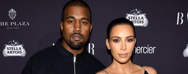 Kanye West und Kim Kardashian auf der New York Fashion Week im September 2016