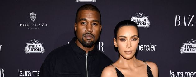 Kanye West und Kim Kardashian bei einer Harper's Bazaar Party in New York