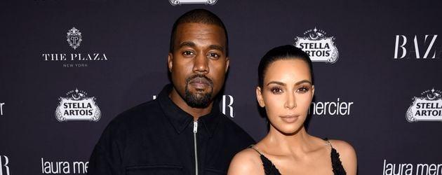 Kanye West und Kim Kardashian bei einer Harper's Bazaar Party in New York