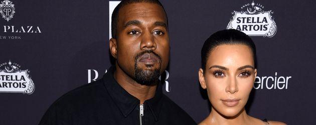 Kanye West und Kim Kardashian bei einer Veranstaltung in New York