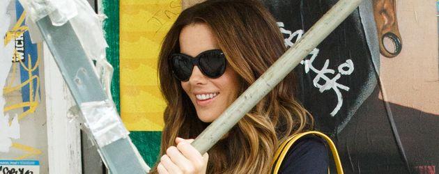 Kate Beckinsale während Dreharbeiten im Oktober 2016 in New York.