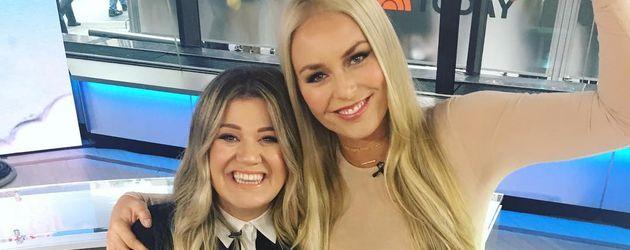 Kelly Clarkson und Lindsey Vonn im Oktober 2016
