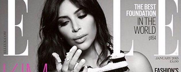 Kim Kardashian auf dem ELLE Cover Januar 2015