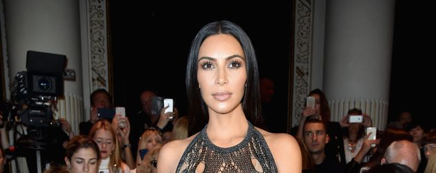 Kim Kardashian auf der Pariser Fashion Week 2016
