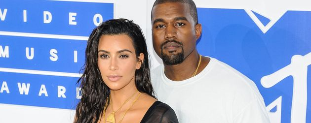 "Kim Kardashian und Kanye West bei den ""MTV Video Music Awards 2016"" in New York"
