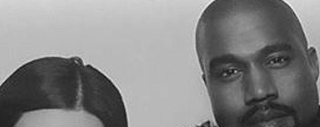 Kim Kardashian und Kanye West mit Tochter North