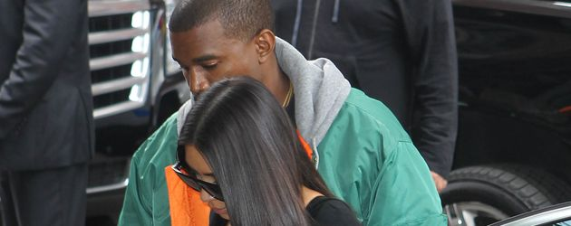 Kim Kardashian und Kanye West in New York