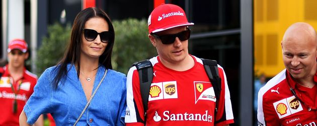 Kimi Räikkönen und Minttu Virtanen