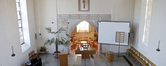 Die Kirche in Mappach in der Samuel Koch sich trauen lassen wird