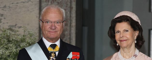König Carl Gustaf und Königin Silvia bei Prinz Oscars Taufe