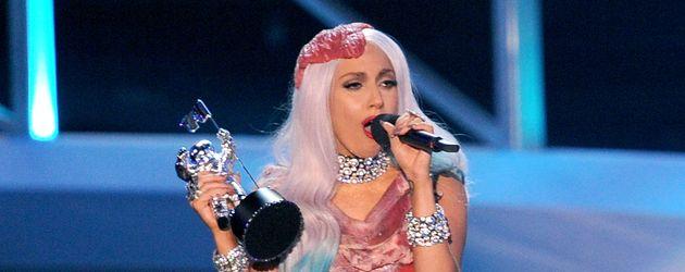 Lady GaGa im berühmten Fleisch-Kleid bei den MTV Video Music Awards 2010