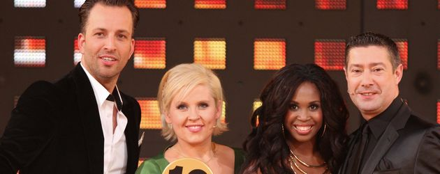 """Let's Dance""-Jury 2012:  Roman Frieling, Maite Kelly, Motsi Mabuse und Joachim Llambi (v.l.)"