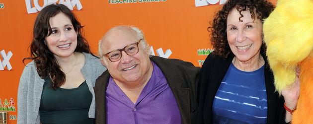 Danny DeVito, Lucy DeVito und Rhea Perlman