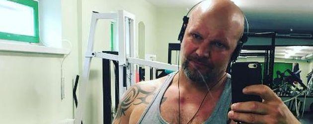 Lutz Schweigel im Fitness-Studio