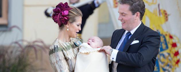 Prinzessin Madeleine und Ehemann Christopher O'Neill bei der Taufe ihres Sohnes Prinz Nicolas