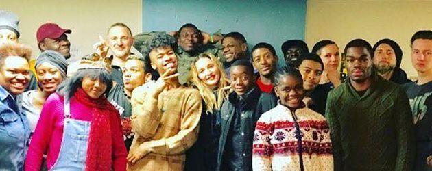 Madonna in einer Einrichtung für LGBT-Jugendliche in New York im November 2016