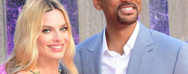 Margot Robbie und Will Smith in London