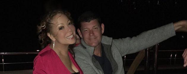 Mariah Carey mit ihrem Verlobten James Packer