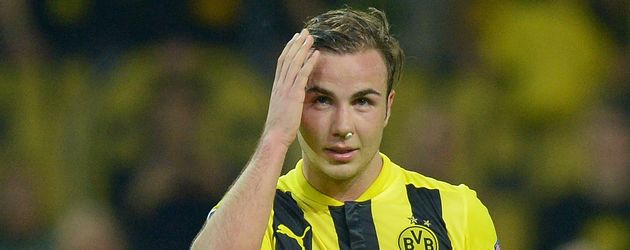 Mario Götze beim Champions-League-Match BVB gegen Real Madrid im April 2013