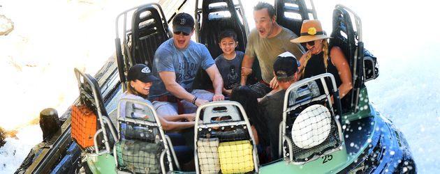 Matt Damon in einem Freizeitpark in L.A.