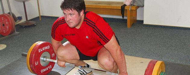 Matthias Steiner rot beim Gewichtheben
