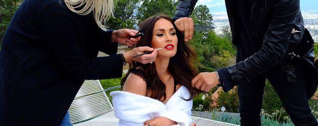 Megan Fox beim Fotoshooting für ihre Unterwäsche-Kollektion