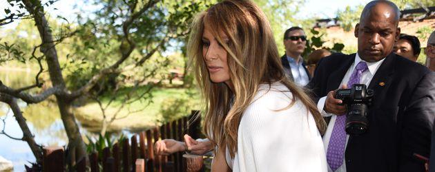 Melania Trump im Morikami Japanese Gardens in Florida