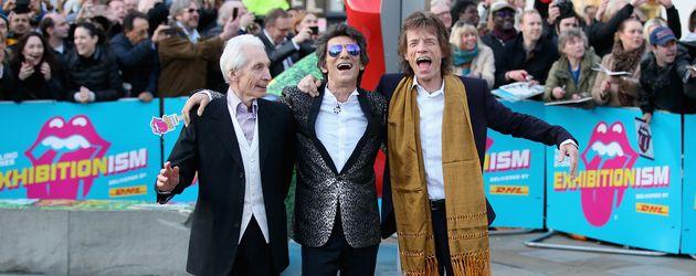 Charlie Watts, Ron Wood und Mick Jagger (v.l.n.r.)