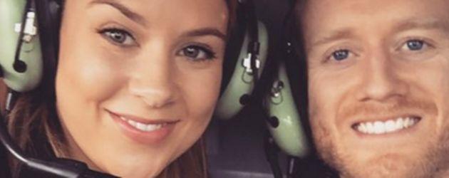 Montana Yorke und André Schürrle nach ihrer Verlobung 2015