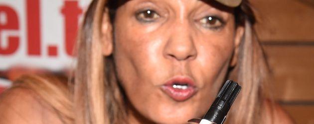 Nadja Abd el Farrag bei einem Auftritt auf Mallorca