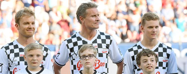 "Nico Rosberg,David Coulthard,Mick Schumacher beim ""Champions for Charity""-Benefizspiel"
