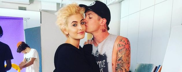 Paris Jackson und Michael Snoddy bei einem Fotoshooting in New York