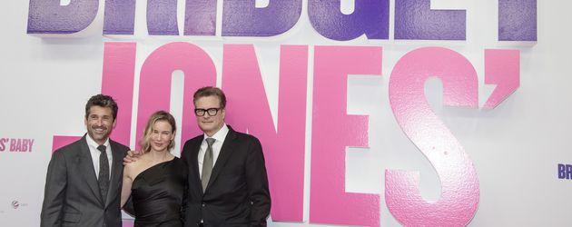 """Patrick Dempsey, Renee Zellweger und Colin Firth auf der """"Bridget Jones Baby""""-Premiere in Berlin"""