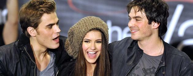"Paul Wesley, Nina Dubrev and Ian Somerhalder, ""Vampire Diaries""-Stars"