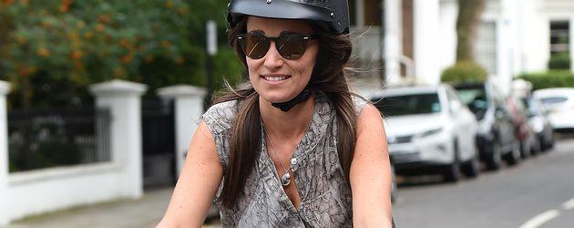 Pippa Middleton auf dem Fahrrad in London