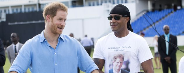 Prinz Harry bei einem Jugendsportfestival 2016 in Antigua