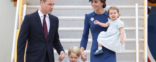 Prinz William und Herzogin Kate mit ihren Kindern George und Charlotte