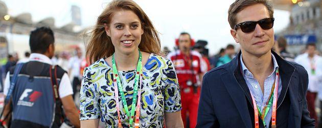 Prinzessin Beatrice und David Clark beim Formel-1-Rennen in Bahrain (2015)