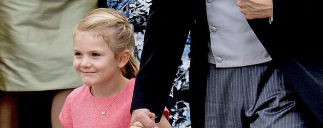 Prinzessin Estelle bei der Taufe von Prinz Alexander