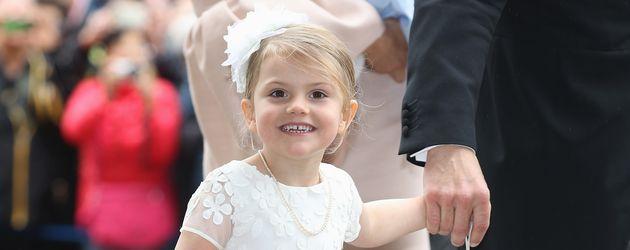 Prinzessin Estelle bei der Taufe von Prinz Oscar