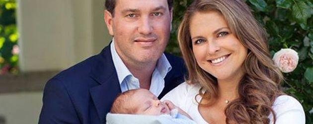 Madeleine von Schweden, Prinz Nicolas von Schweden und Chris O'Neill