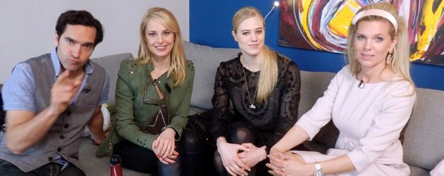 Larissa Marolt, Silvia Schneider und Maja von Hohenzollern