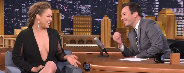 "Ronda Rousey und Jimmy Fallon bei ""The Tonight Show Starring Jimmy Fallon"" in NYC"