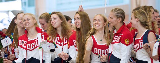 Russische Sportlerinnen in Moskau