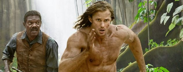 "Samuel L. Jackson (links) und Alexander Skarsgard (rechts) in ""Legend of Tarzan"""