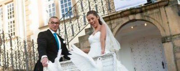 Pietro und Sarah Lombardi bei ihrer Hochzeit